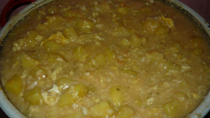 Burgonyafőzelék tojással elkészítés 2. lépés képe