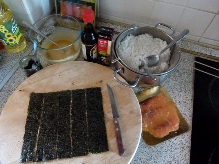 Noémi első sushija elkészítés 1. lépés képe