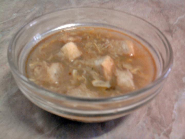 Rántott leves pirított kenyérkockával elkészítés 1. lépés képe
