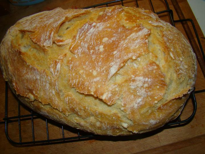 Dagasztás nélküli kenyér elkészítés 6. lépés képe