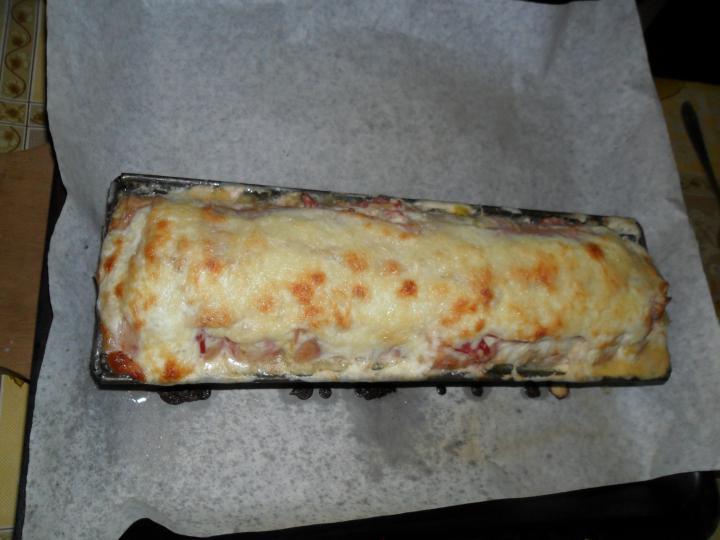 Baconös csirkemell őzgerincformában elkészítés 7. lépés képe