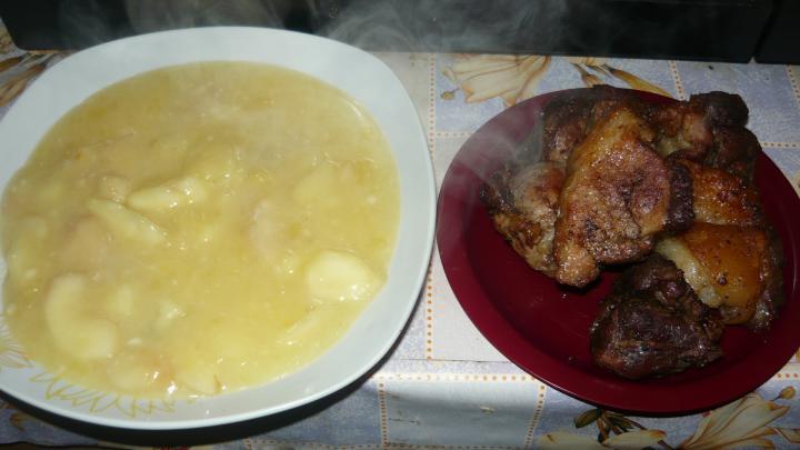 Almaszósz sült hússal elkészítés 6. lépés képe