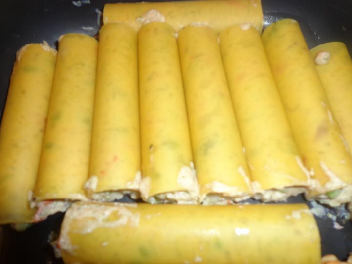 Cannelloni vegáknak elkészítés 3. lépés képe